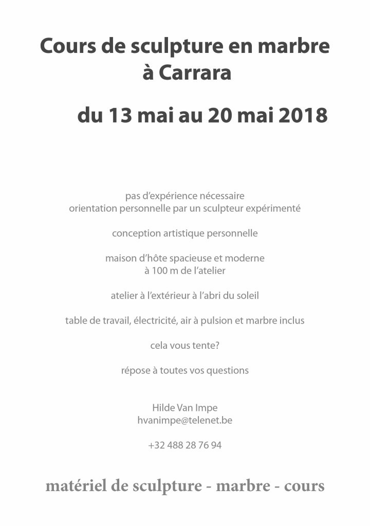 flyer workshop carrara 2018FR