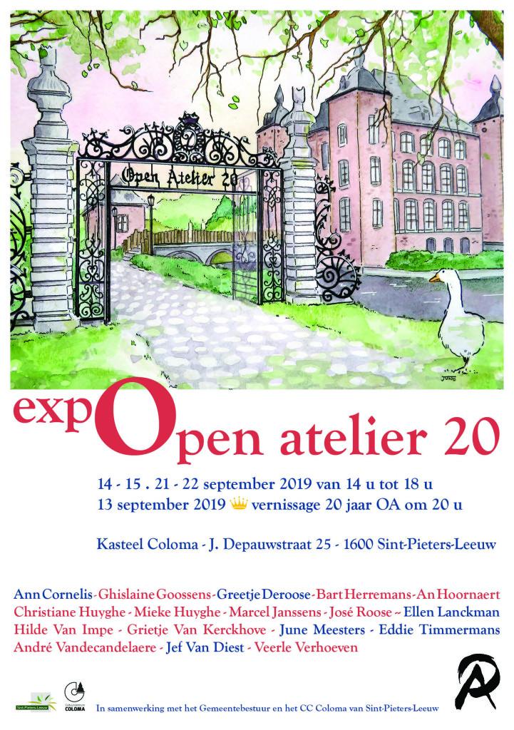 digitale uitnodiging Open Atelier 20